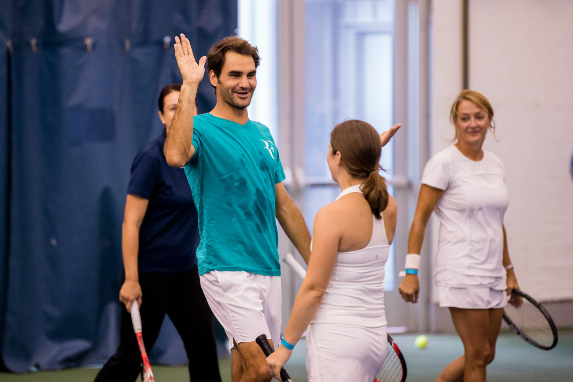 My Tennis Clinic With Roger Federer